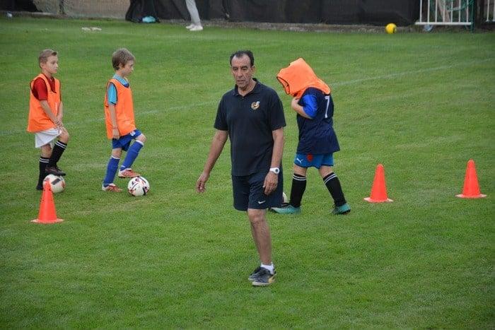 Vydařený trénink s trenérem týmu Atlético Madrid