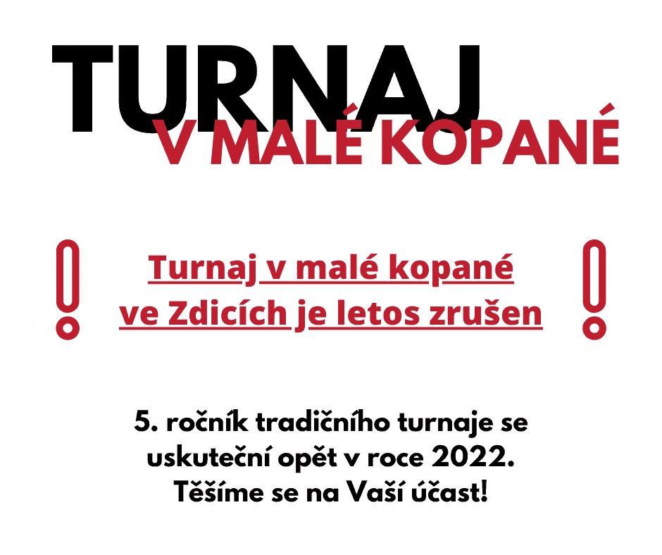 Read more about the article Turnaj v malé kopané je letos zrušen!