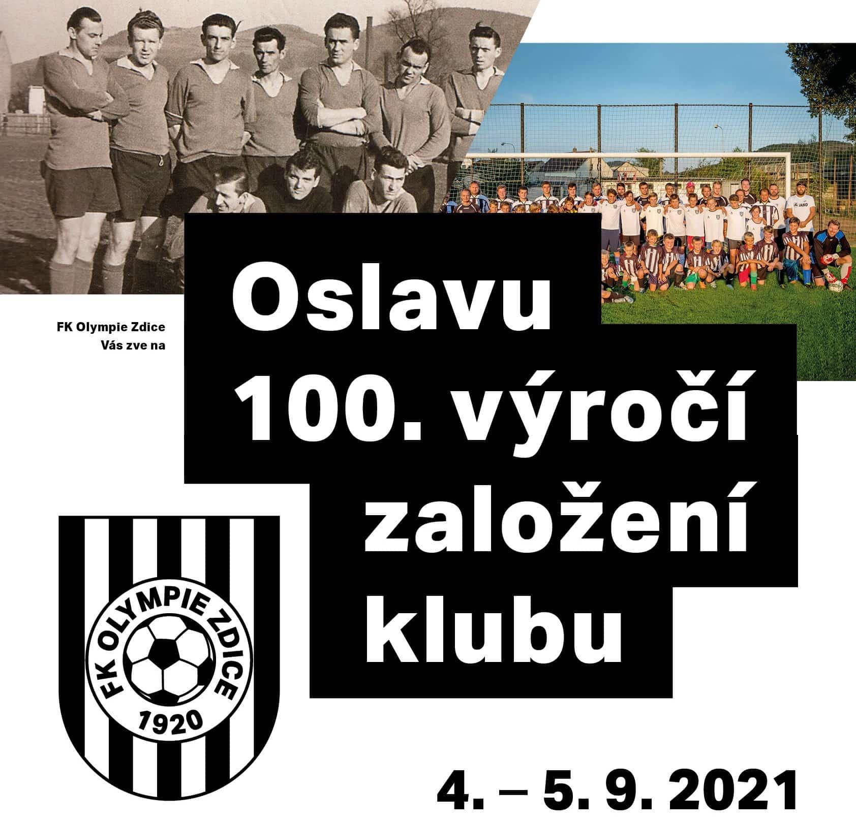 Read more about the article 100. výročí založení klubu – program oslav